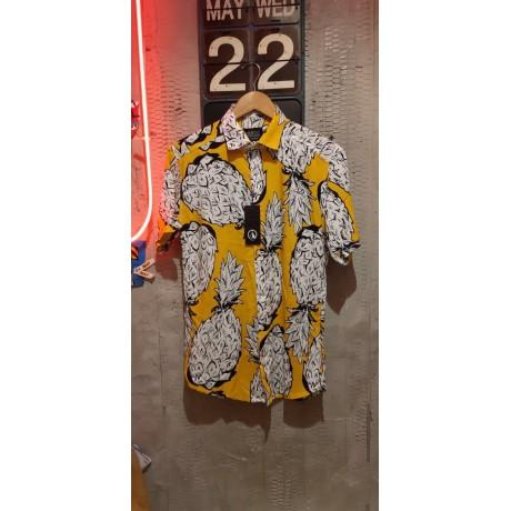 پیراهن طرح هاوایی مردانه آناناسی