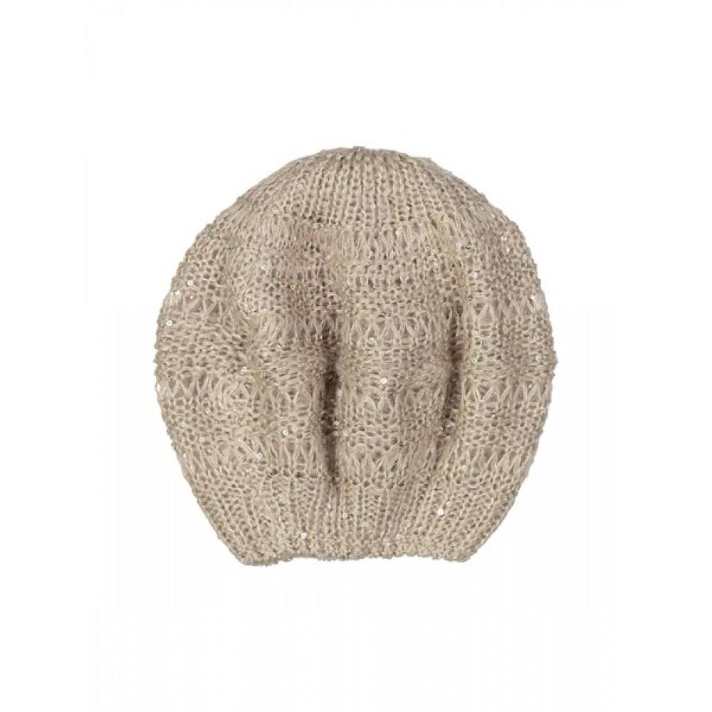 کلاه بافتنی دخترانه - ایدکس - کرم
