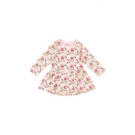 پیراهن نخی نوزادی دخترانه - کوتون - صورتی