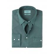 پیراهن مردانه نخی آستین بلند سبز